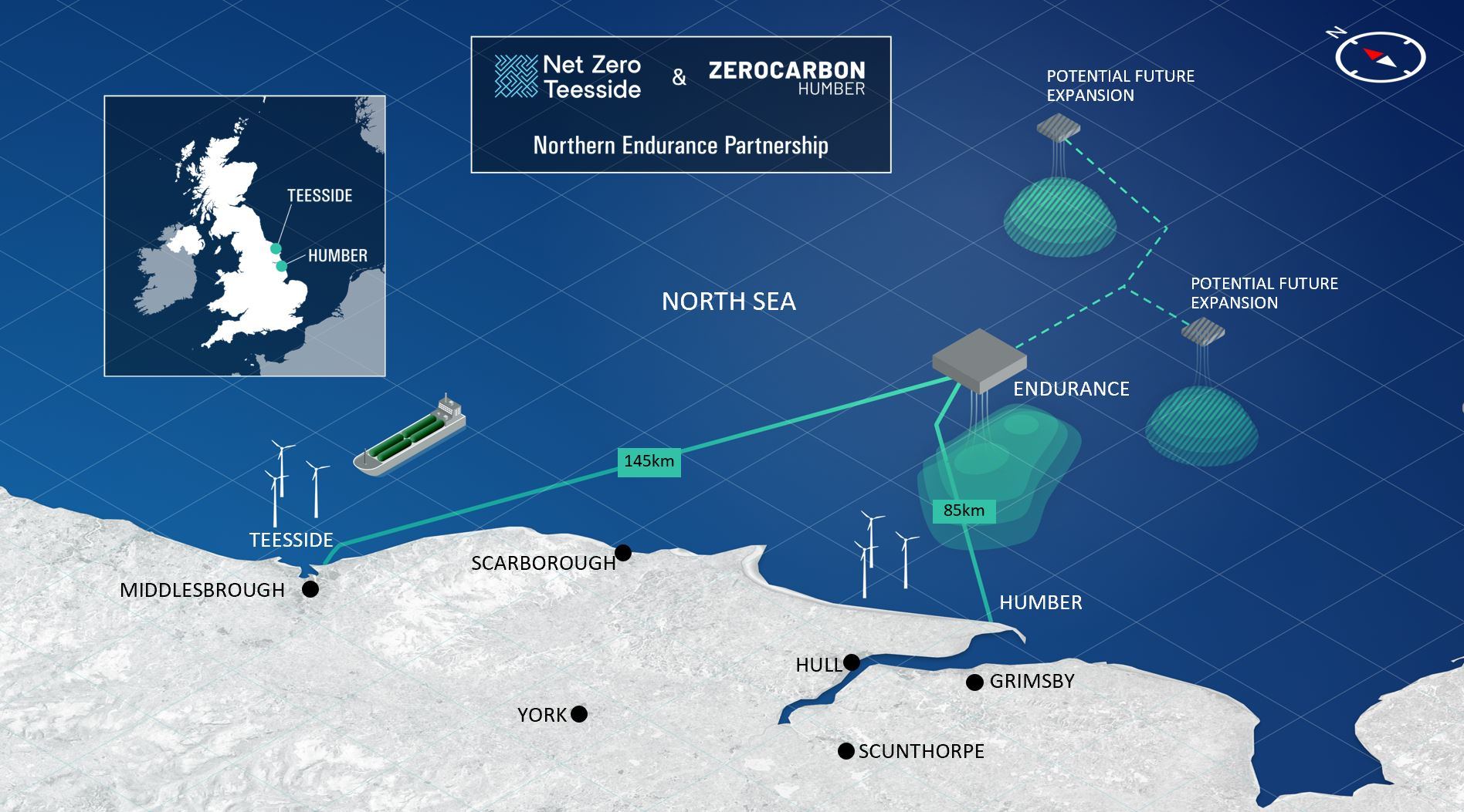 Northern Endurance Partnership offshore graphic